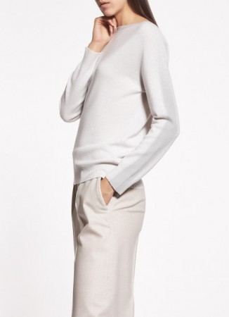 WOOLEN CARDIGAN, CANVAS AND SILVER