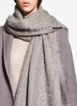 WOVEN WOOL AND MODAL PASHMINA