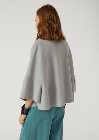 Cape In Wool And Cashmere