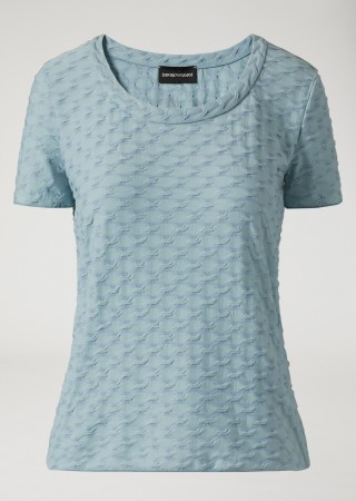Cable-Effect Knit T-Shirt
