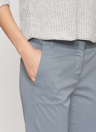 ASSISI COTTON TROUSERS, QUARTZ GREY