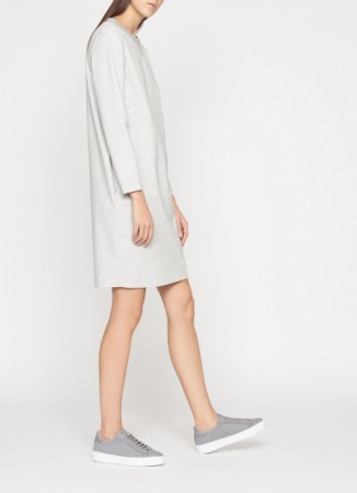 COTTON DRESS, PEARL GREY