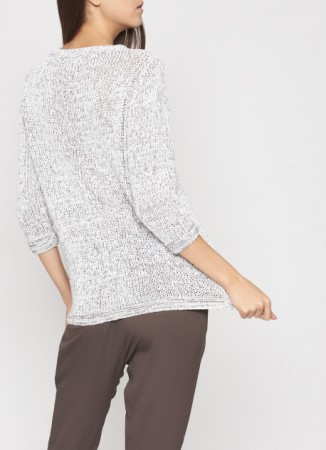 COTTON PULLOVER, SMOKY GREY