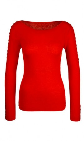 Pullover with buttons