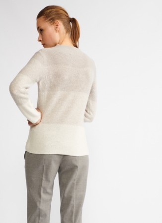 CASHMERE JUMPER, SNOW WHITE AND ARCTIC