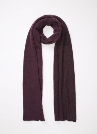 WOOL, SILK AND CASHMERE SCARF, GRAPE
