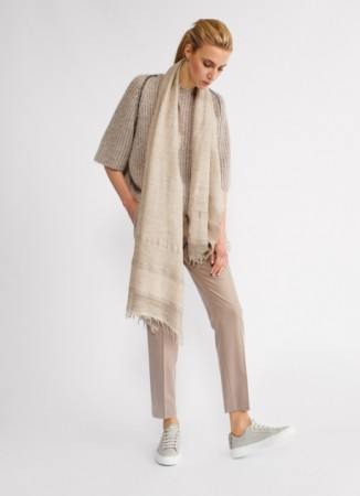 MODAL AND COTTON PASHMINA SCARF, MOUSSE