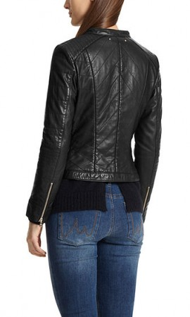 Leather jacket with rivets
