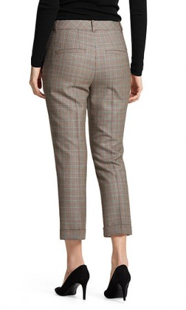 Cropped Glen plaid pants