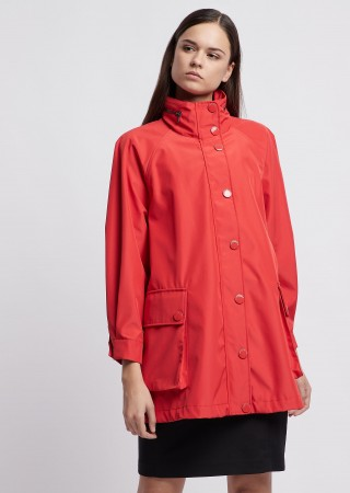Emporio Armani raincoat red