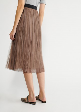 Fabiana Filippi pleated tulle skirt
