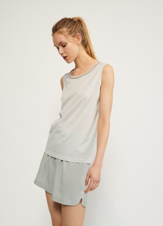 Fabiana Filippi cotton tank top