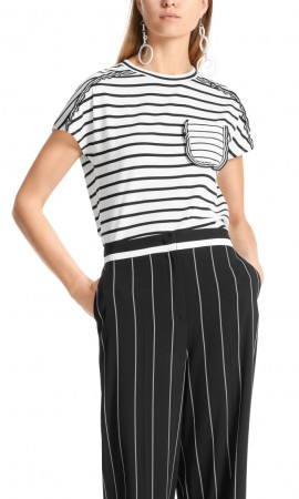 Marccain striped cotton top