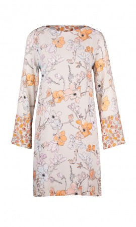 Marccain silk dress with magnolias