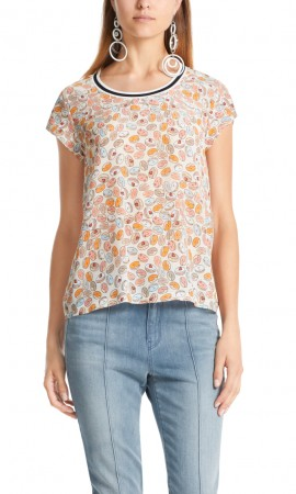 Marccain blouse-style top in silk