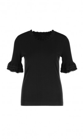 Marccain sweater with flounce sleeves