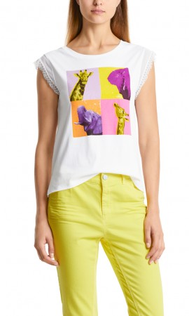 Marccain printed T-shirt with sequins