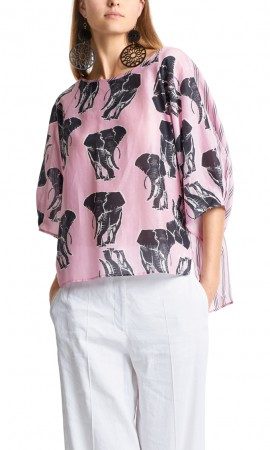 Marccain loose blouse with elephants