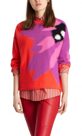 Marccain sweater with intarsia pattern