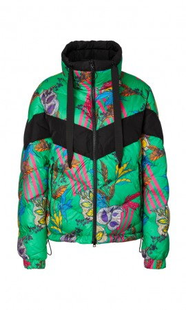Marccain ethnic-pop-print reversible down jacket