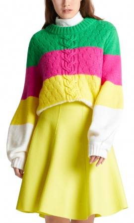 Marccain sweater with colour blocking