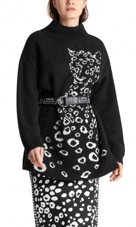Marccain sweater with leopard