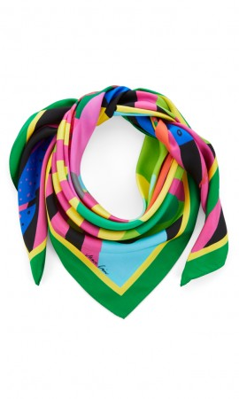 Marccain scarf with bright print
